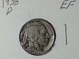 1938 D Buffalo Nickel