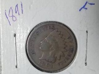 1891 Indian Head Penny