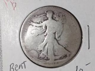 1918 D Walking liberty Half Dollar