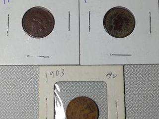 1902  1903   1903 Indian Head Pennies