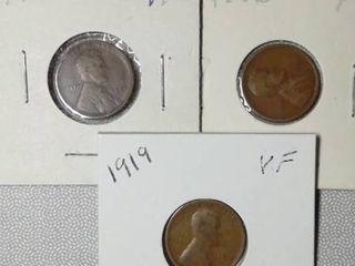 1919  1920 S  1920 D Wheat Pennies