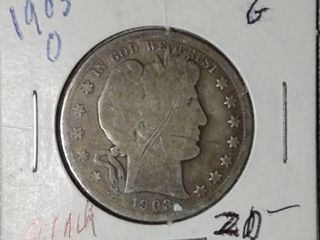 1903 O Barber Half Dollar