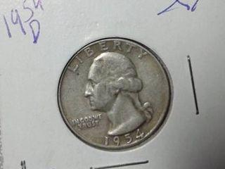 1954 D Washington Quarter