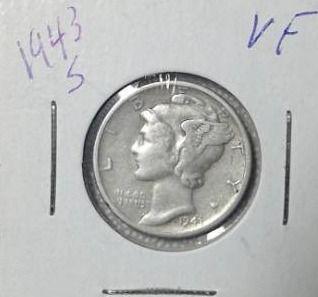 1943 S Mercury Dime