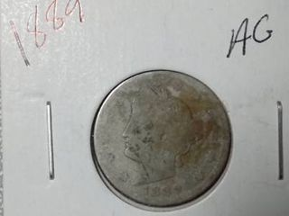1889 liberty Nickel