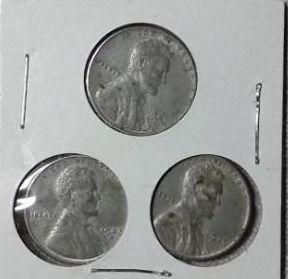 1943 D  P   S Steel Wartime Pennies