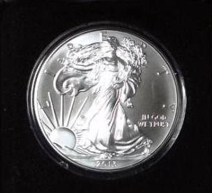 2013 1 troy oz  Fine Silver Eagle in Case