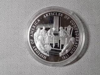 1 troy oz  Fine Silver  Articles of Confederation