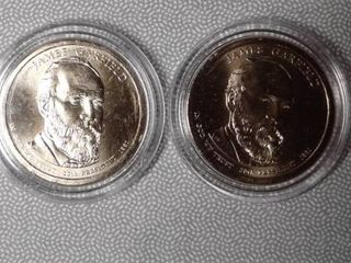 2x James Garfield  1 Presidential Commemorative Coins