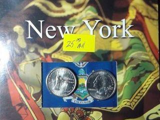 11 50 New York Mint Quarter Dollars in Booklet