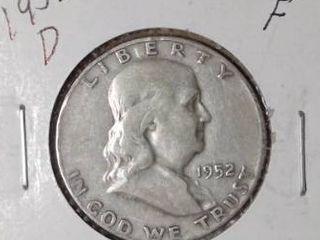 1952 D Franklin Half Dollar
