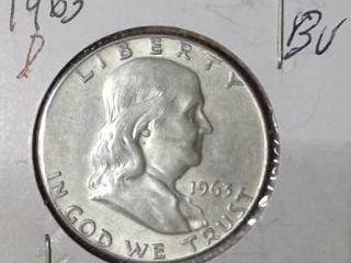 1963 D Franklin Half Dollar