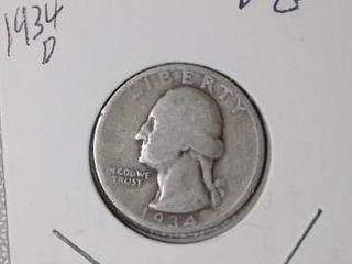 1934 D Washington Quarter