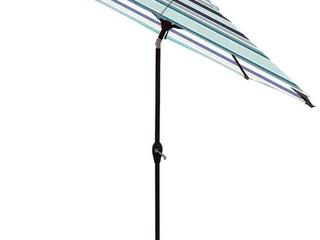 Allen   Roth Brown Powder Coated Finish 9ft Umbrella