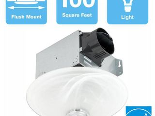 Delta Breez Greenbuilder Series 100 CFM Ceiling Exhaust Fan with lED light