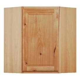 Kitchen Classics Denver 24 in W x 30 in H x 12 in D Finished Hickory Corner Kitchen Wall Cabinet