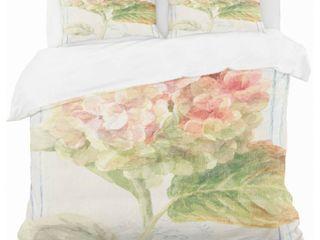 Designart  Floursack Florals II  Cottage Bedding Set   Duvet Cover  amp  Shams   Twin  Comforter not included