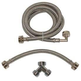 EASTMAN 6 ft 1800 PSI Braided Stainless Steel Steam Dryer Installation Kit