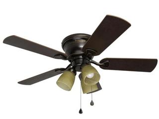 Harbor Breeze Centreville 42 in Oil rubbed Bronze Indoor Flush Mount Ceiling  MISSING HARDWARE