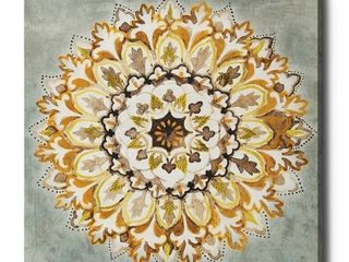 iCanvas  Mandala Delight II Yellow Gray  by Danhui Nai Gallery Wrapped Canvas Print  Retail 115 99