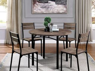 Carbon loft Maggio Industrial Antique Brown 2 piece Dining chairs Retail 463 49