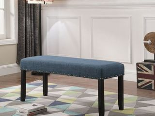 Biony Fabric Dining Bench with Nailhead Trim  Retail 81 48