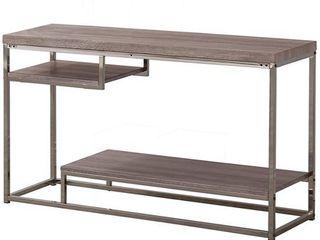 Coaster Company Weathered Grey Wood Nickel Sofa Table   47 25  x 15 75  x 29  Retail 193 49