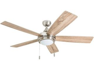 Honeywell Ventnor 52  Modern Brushed Nickel lED Ceiling Fan with Integrated light