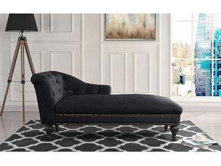 Elegant Victorian Inspired Chaise in Microfiber Velvet  Retail 316 49