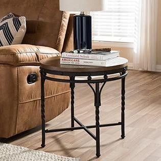 Carbon loft Cohn Antique Bronze Iron Industrial Round Table  Retail 128 49