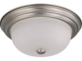 Nuvo Interior Home 2 light Brushed Nickel Flush Mount Fixture