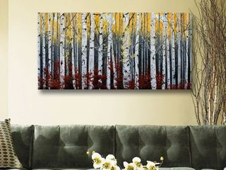 Julie Peterson s  Birch Forest  Gallery Wrapped Canvas