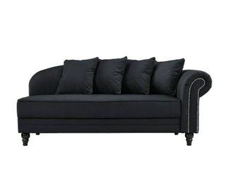 Microfiber Velvet living Room Chaise lounge with Nailhead Trim  Retail 314 49
