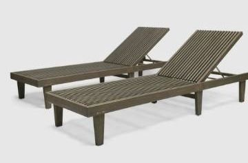 Nadine Outdoor Adjustable Wood Chaise lounge by Christopher Knight Home  Retail 443 49