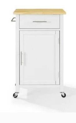 Savannah Wood Top Compact Kitchen Island Cart   37 H x 22 25 W x 15 75 D  Retail 231 99
