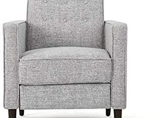 Mervynn Mid century Fabric Recliner Chairs by Christopher Knight Home  Retail 627 49