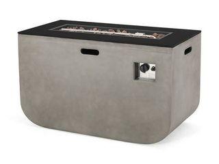 Adio Outdoor Modern 40 inch Rectangular Fire Pit   40 00  W x 20 00  l x 24 00  H  Retail 586 99