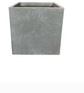 16  Kante lightweight Modern Outdoor Concrete Square Planter Slate Gray   Rosemead Home   Garden  Inc