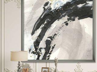 Designart  Glam Painted Arcs IV  Transitional Premium Framed Art Print  Retail 122 49