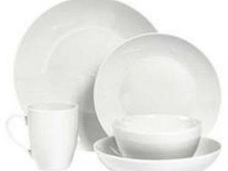 Tabletops Gallery Celeste 10pc Dinnerware Set White Service for 2