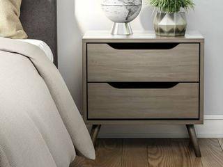Carson Carrington Bodo Mid century Modern 2 drawer Nightstand  Retail 251 99