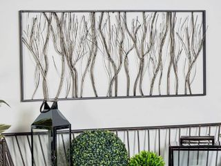 Natural 22 x 48 Inch Iron Twigs and Branches Wall Decor by Studio 350  Retail 99 99