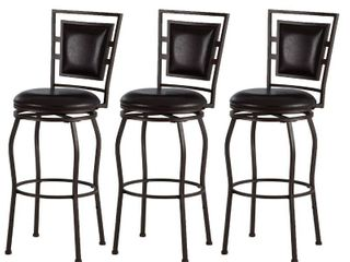 Copper Grove Nantucket Adjustable Bar Stools  Set of 3  Retail 184 49