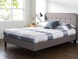 Priage by Zinus Upholstered Curved Platform Bed  Retail 352 99