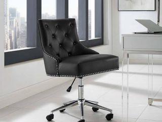 Regent Swivel Faux leather Office Chair Black   Modway