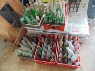 5 Cartons of vintage Pop Bottles