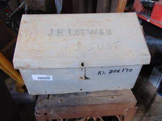 Vintage Metal mail Box