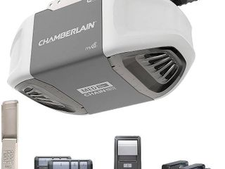 Chamberlain Group C450 Smartphone Controlled Durable Chain Drive Garage Door Opener with MED lifting Power  Pewter  RETAIl  172 31  MATCHES lOT 7366