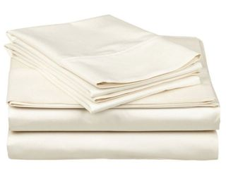 Superior 300 Thread Count Combed Cotton Sateen Queen Duvet Cover Set