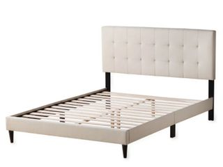 Copper Grove Ayrum Upholstered Bed Frame with Square Tufted Queen Headboard  Retail 232 49